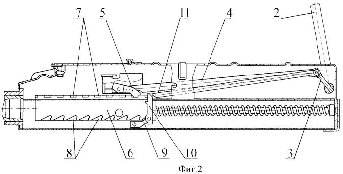 Механизм ручной перезарядки гранатомета