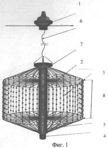 Автономный гидроакустический антенный модуль