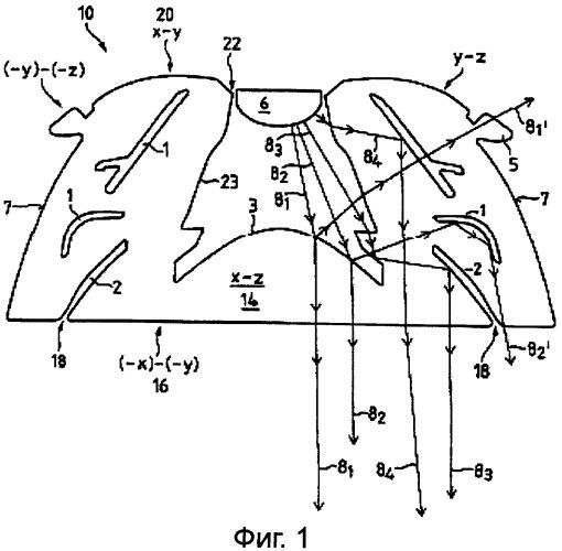 Оптическое устройство для световых источников сид