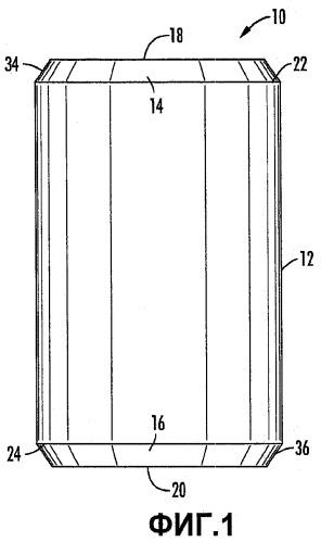 Сорбирующий фильтр со скошенными краями