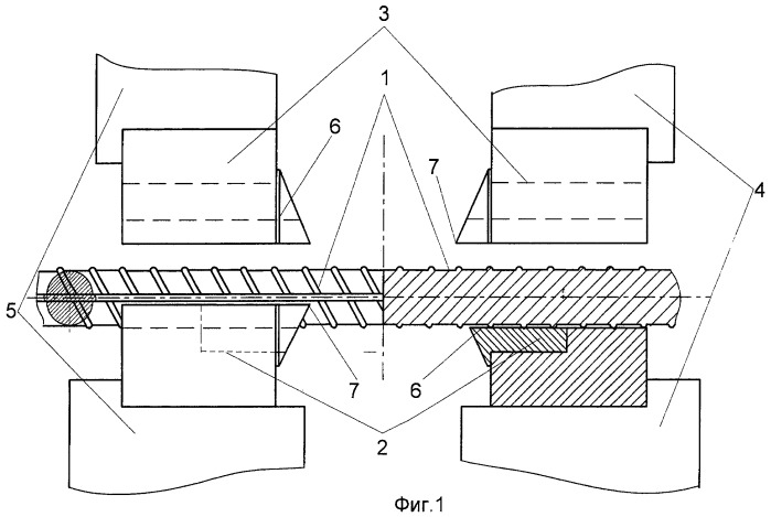 Способ контактной стыковой сварки оплавлением с последующим удалением грата изделий круглого сечения