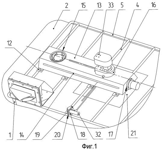 Установочный комплект для крепления оборудования на крыше специализированного автомобиля