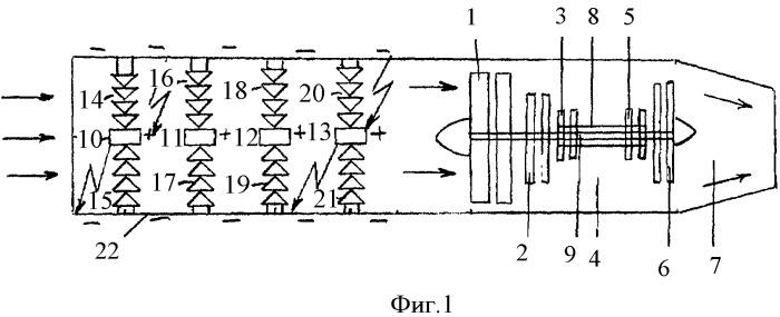 Защищенный реактивный двигатель