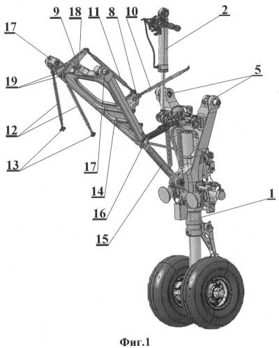 Механизм привода передних створок ниши шасси самолета