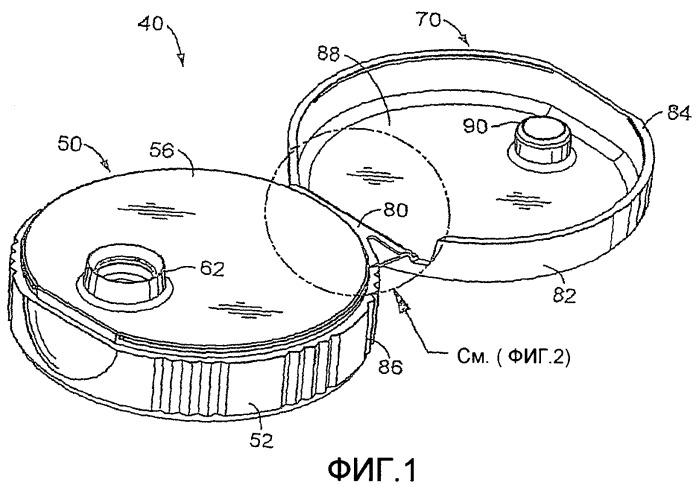 Закрывающее устройство с шарнирной крышкой и снимающими напряжения выемками