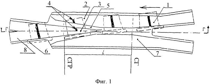 Крестовина для пересечения заводских железных дорог