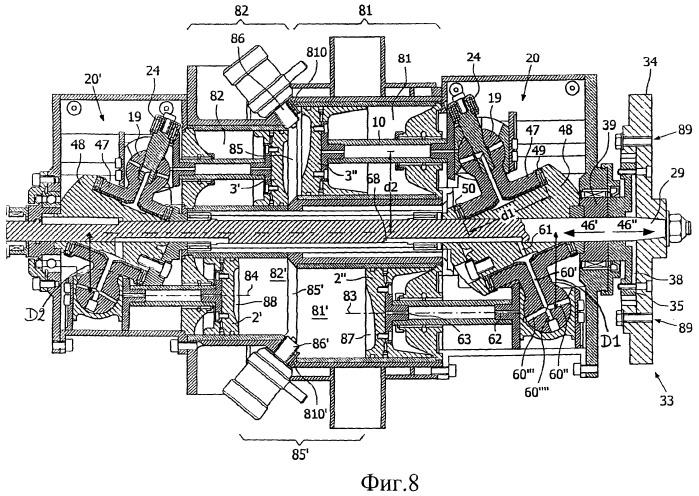 Двигатель с поршнями, расположенными параллельно приводному валу