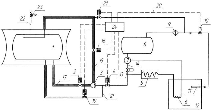 Система подачи криогенного топлива для питания двигателя