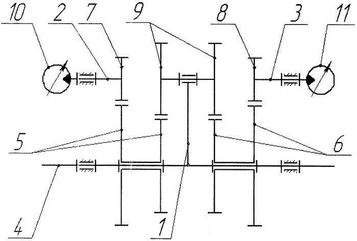 Дифференциальный гидромеханический привод