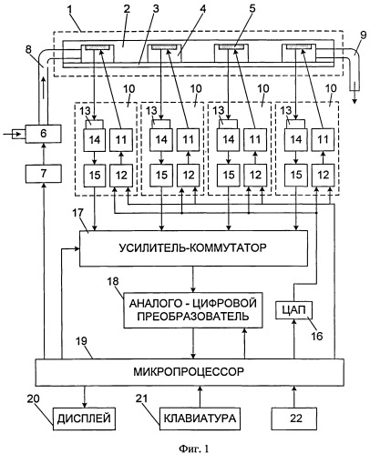 Способ анализа содержания летучих органических соединений в газовой среде и матричный анализатор для его осуществления