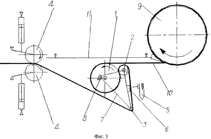 Способ и устройство для смотки тонкой аморфной ленты, сходящей с литейного барабана