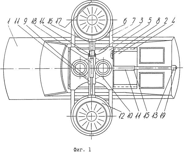 """Транспортное средство """"автоаквалет"""" со съемным полетным турбовентиляторным комплексом с изменяемой геометрией"""