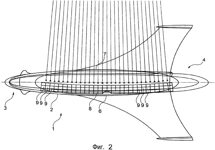 Фюзеляж летательного аппарата с внешним контуром в виде дуги окружности