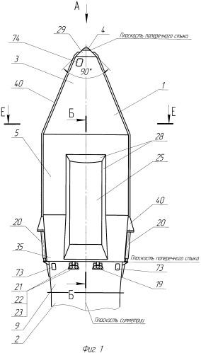 Отделяемый головной обтекатель ракеты-носителя