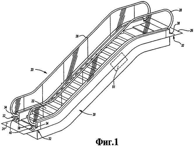 Устройство индикации направления движения пассажирского конвейера и пассажирский конвейер