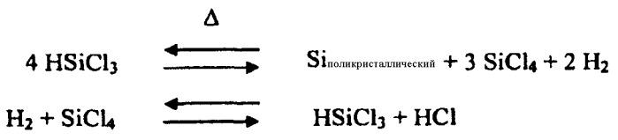 Получение кремния посредством реактора с псевдоожиженным слоем, встроенного в сименс-процесс