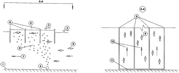 Эрлифтный фильтр для фильтрации гидробионтов и взвесей
