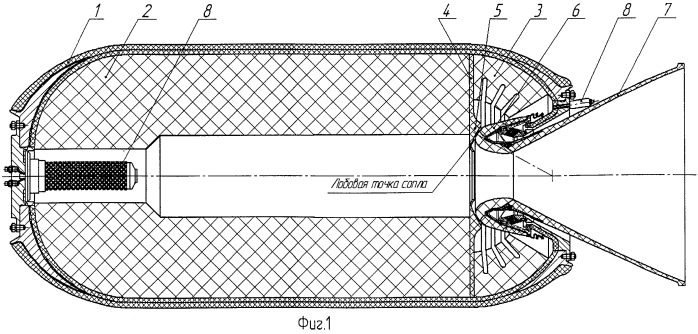 Ракетный двигатель твердого топлива с поворотным управляющим соплом (варианты)