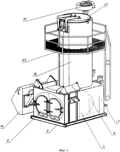 Пиролизная термогазохимическая установка для утилизации твердых бытовых отходов