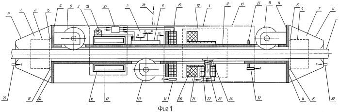 Способ перемещения по проводу линии электропередачи средства для удаления льда с провода и устройство для его осуществления (варианты)
