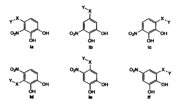 Новые производные нитрокатехола, обладающие активностью в качестве лигандов селектина