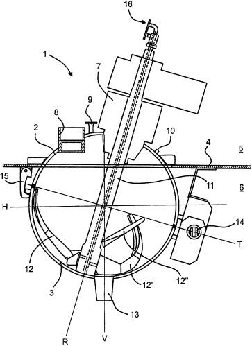 Смеситель - сушильная камера со сферическим корпусом