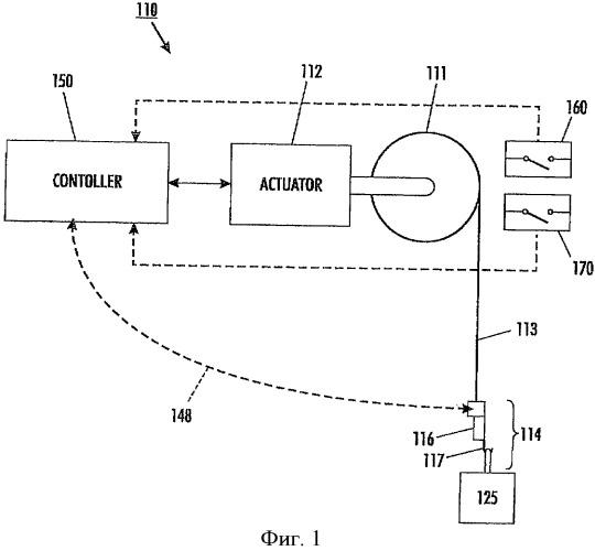 Исполнительный механизм подъемного устройства и подъемная система