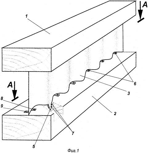 Металлодеревянная балка двутаврового сечения