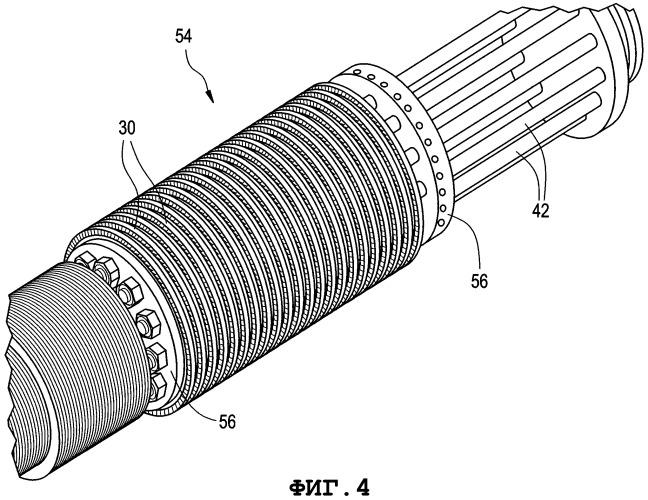 Узел ротора, узел статора, а также паровая турбина, содержащая такие узлы