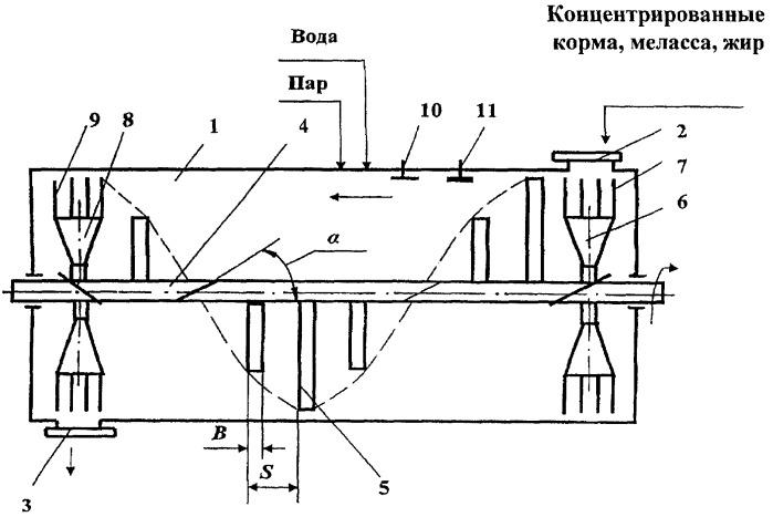 Способ баротермической обработки концентрированных кормов