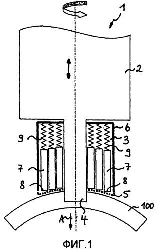Фрикционный инструмент с адаптируемым по форме заплечиком