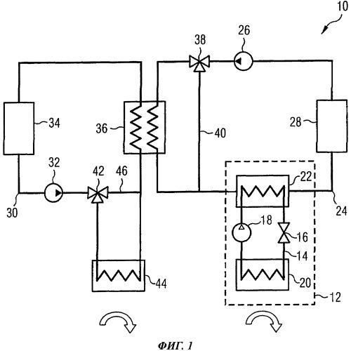 Система охлаждения для охлаждения тепловой нагрузки на борту воздушного судна и способ работы такой системы