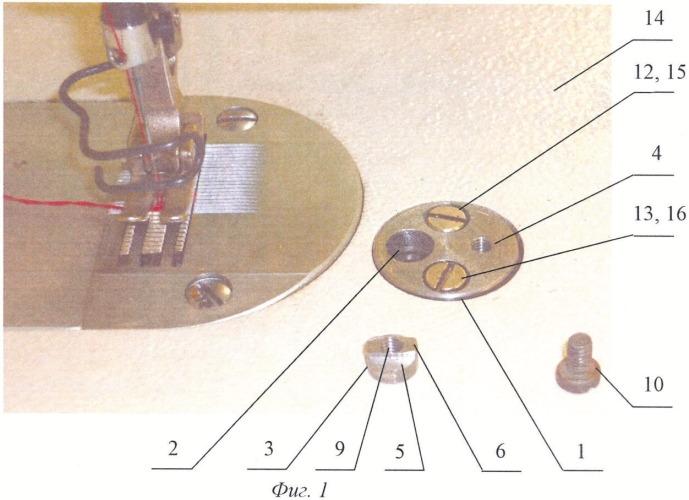 Устройство для монтажа приспособлений на платформе швейной машины