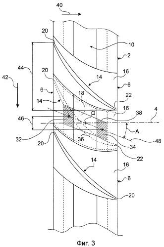 Система для компрессора двигателя летательного аппарата, содержащая лопатки с молоткообразным узлом крепления и наклонной корневой частью