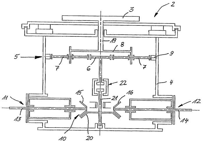 Передаточный механизм для истирающих мельниц