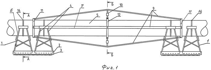Надземный трубопровод повышенной надежности