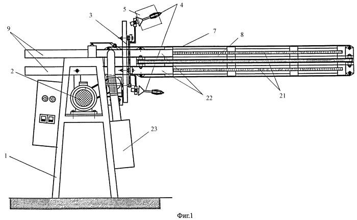 Устройство для изготовления гибкой многослойной трубы