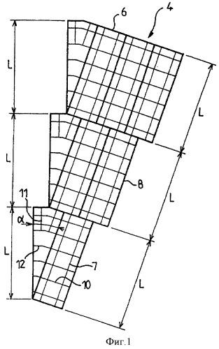 Цилиндрическая структура, состоящая из прямоугольных элементов