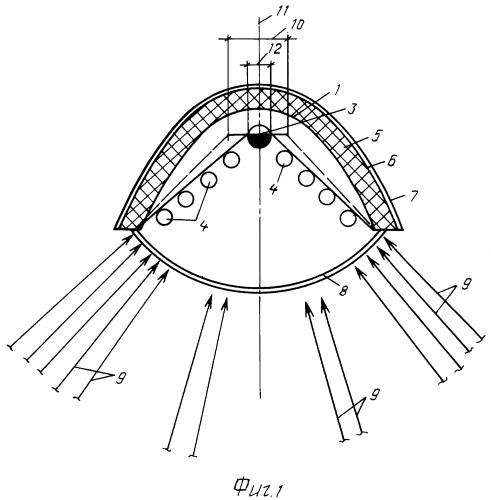 Абсорбер параболоцилиндрического концентратора солнечной энергии с системой слежения за солнцем