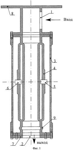 Датчик расхода с замкнутой системой колебаний проточного типа