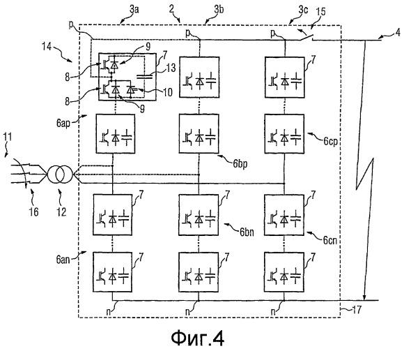 Способ ограничения повреждения выпрямителя тока, имеющего силовые полупроводниковые приборы, при коротком замыкании в промежуточном контуре постоянного напряжения