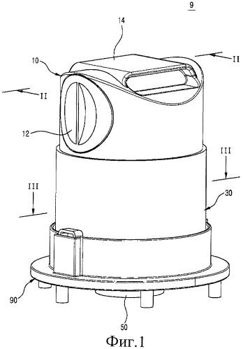 Пылеотделяющее устройство, имеющее регулируемое пространство для сбора пыли