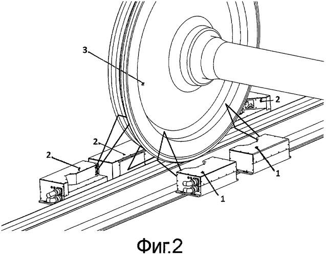 Способ контроля колеса колесной пары локомотива в движении