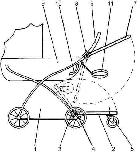 Детская коляска с прицепом