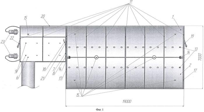 Модуль имитатор поверхности марса наземного экспериментального комплекса для моделирования длительных космических полетов