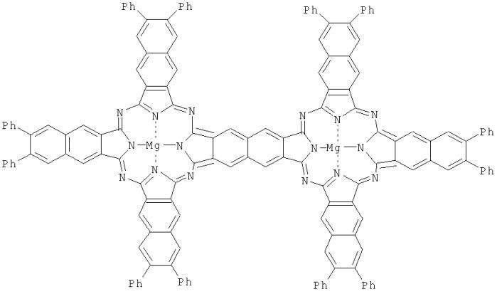 Комплекс изоиндоло[5,6-f]изоиндол-1,3,6,8(2н,7н)-тетраамина, 6,7- дифенил-2,3-дицианонафталина и mg и способ получения комплекса