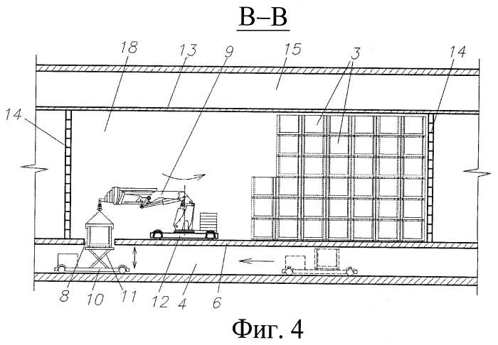 Подземное сооружение для длительного хранения и/или захоронения упаковок радиоактивных отходов