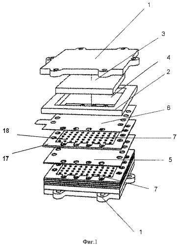 Узел сжатия для распределения наружного усилия сжатия к стопке твердооксидных топливных элементов и стопка твердооксидных топливных элементов