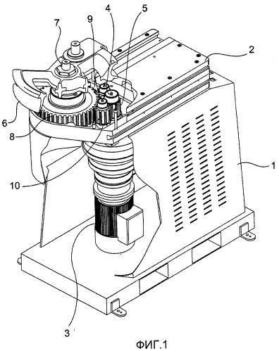 Трубогибочная машина, имеющая улучшенную передачу движения на гибочный штамп