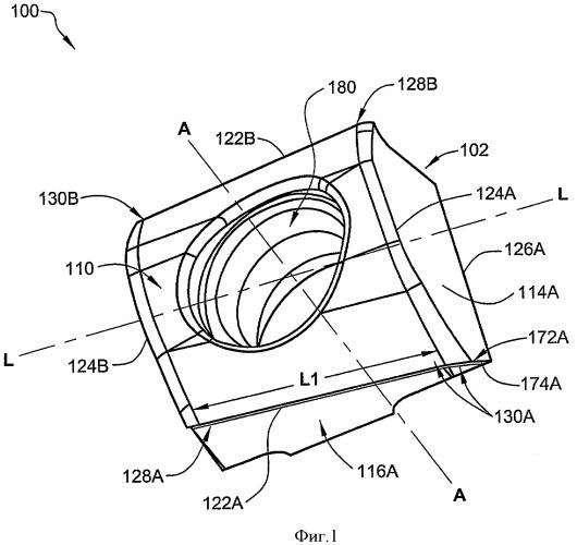 Индексируемая тангенциальная режущая пластина и вращающийся режущий инструмент
